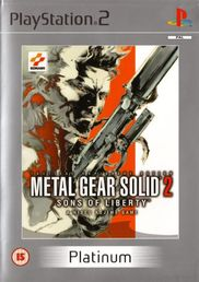 Metal Gear Solid 2: Sons of Liberty Platinum PS2