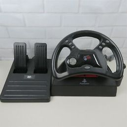 Playstation 1 Mad Catz Digital/Analog Racing Wheel (käytetty)