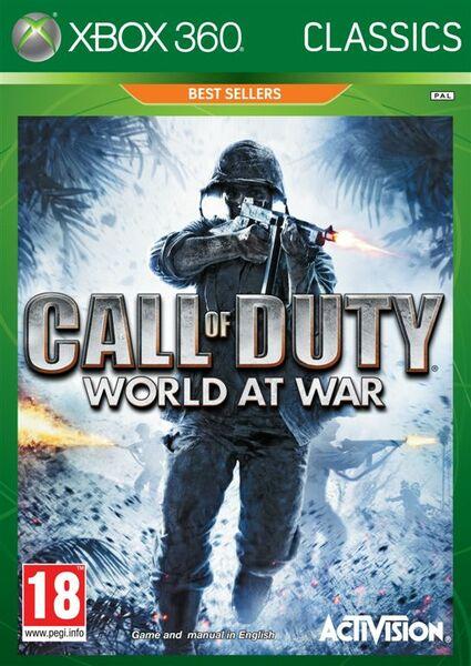 Call Of Duty World At War Classics Xbox 360 Konsolinet